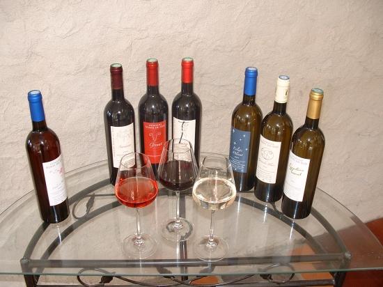 Carte des vins vents du sud